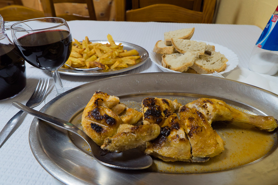 Piri Piri chicken with wine