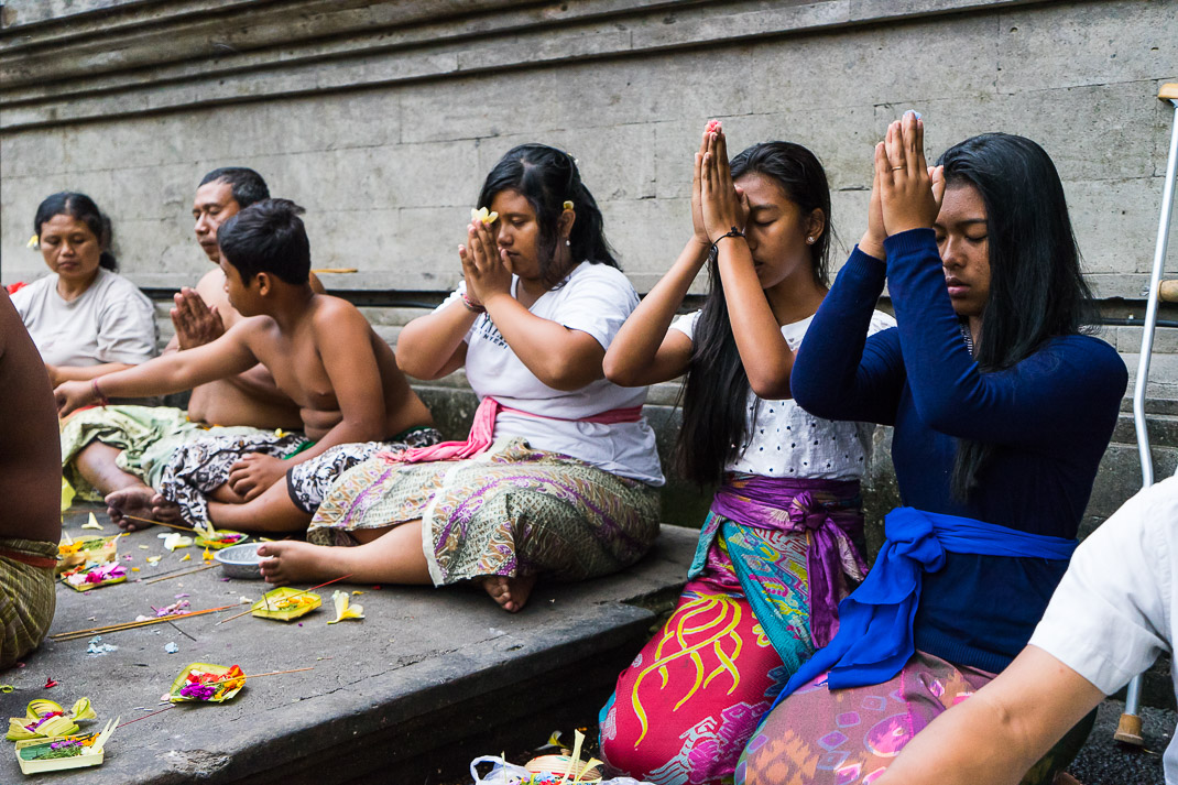 Bali Spring Temple Praying
