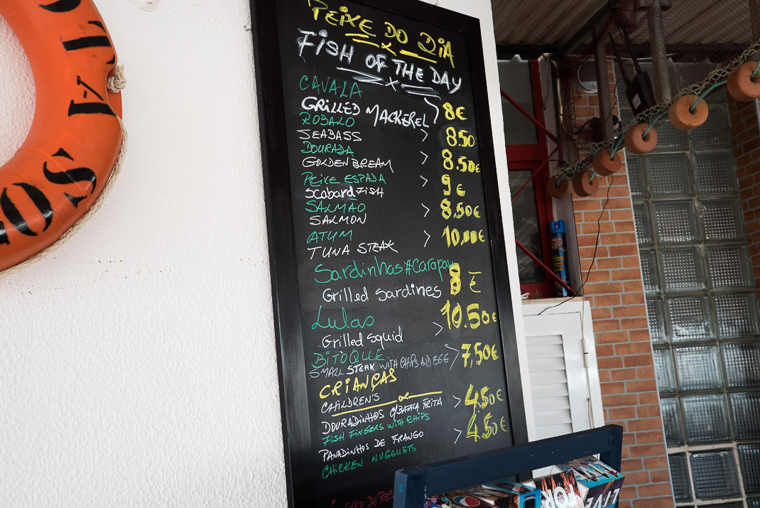 Bar da Lota Menu