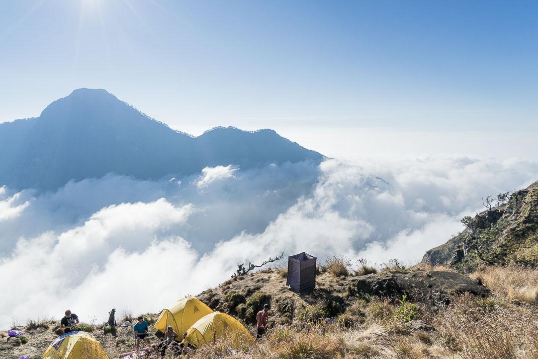 Climbing Mount Rinjani Tents