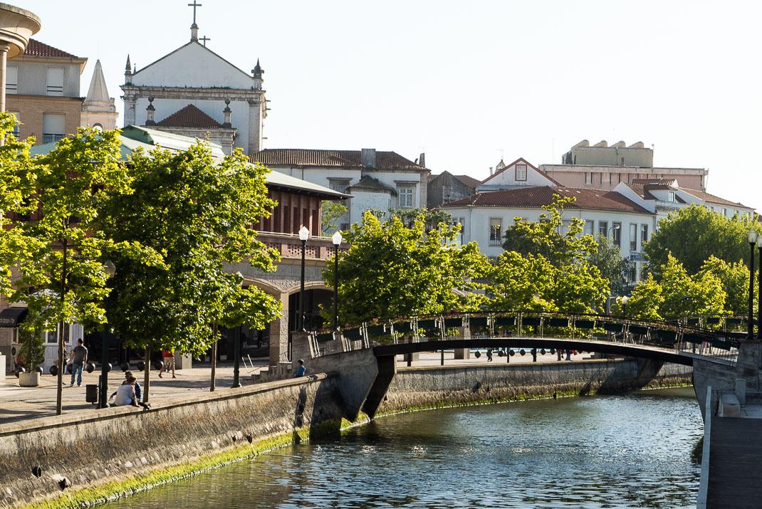 Aveiro Canal Bridge Sunset