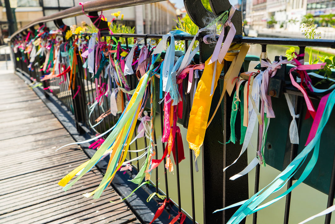 Aveiro Ribbons On Bridge