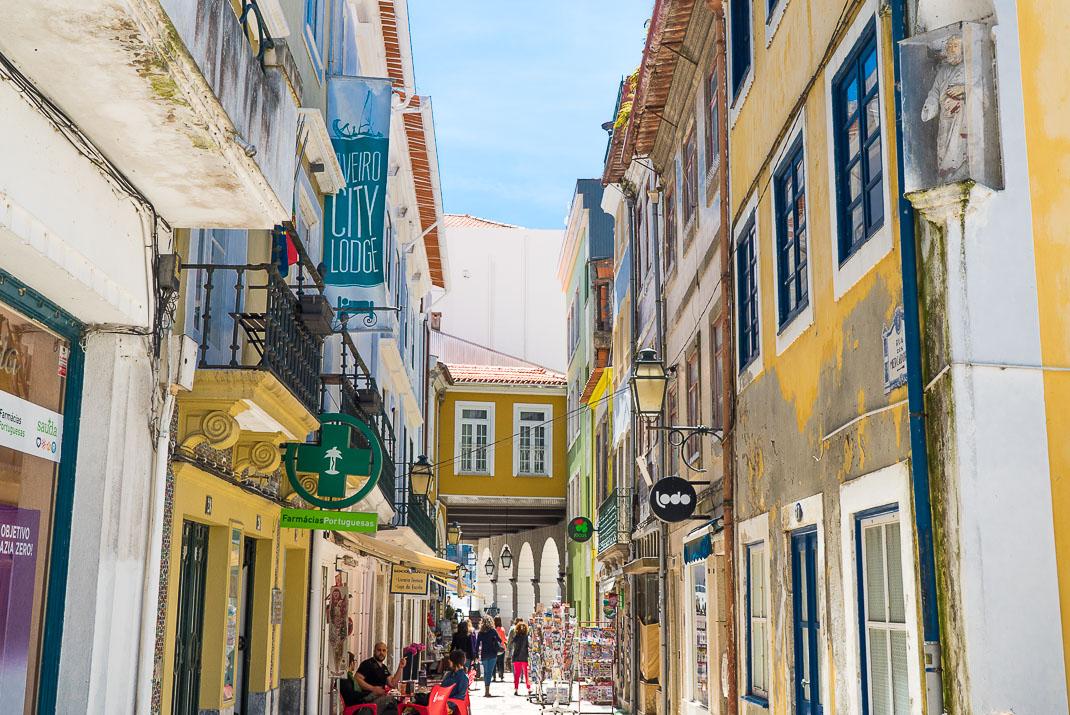 Aveiro Walkway Between Buildings