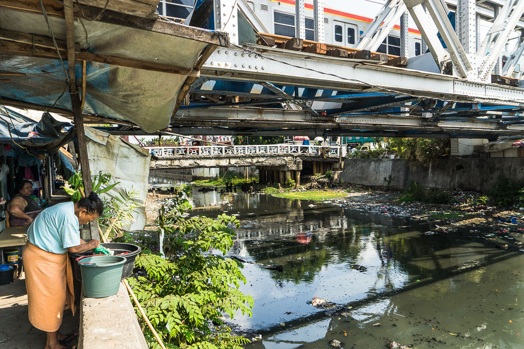 Hidden Jakarta Kampung Under Train