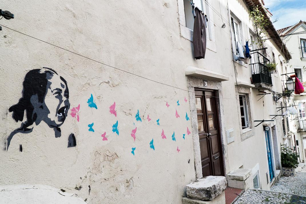 Lisbon Alleyway Art