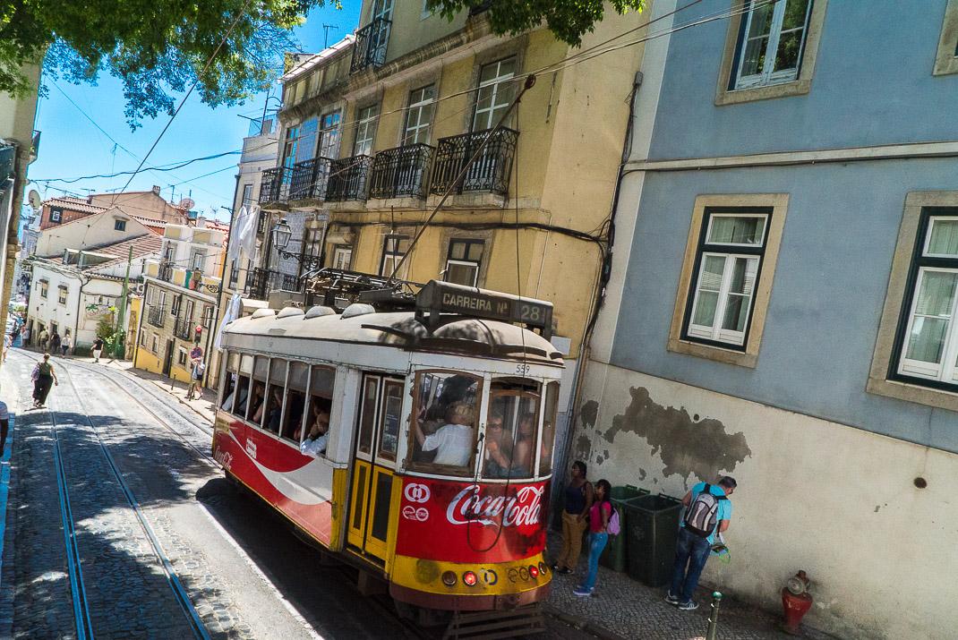 Lisbon Alfama Street Car