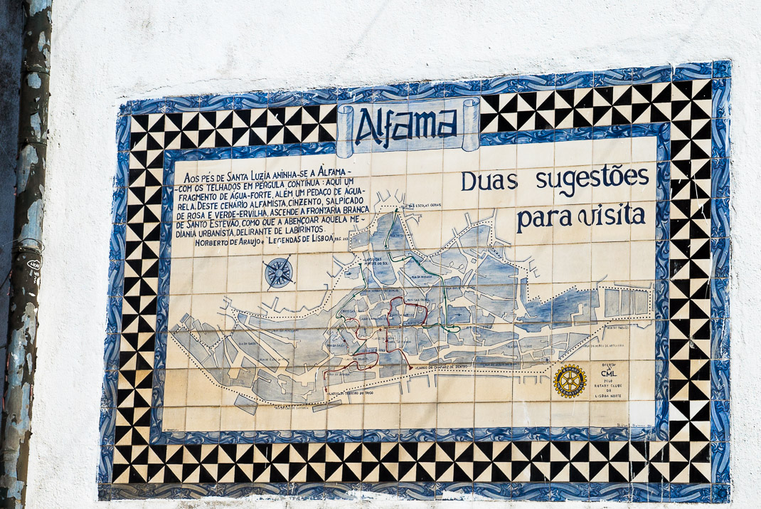 Lisbon Alfama Tile Map