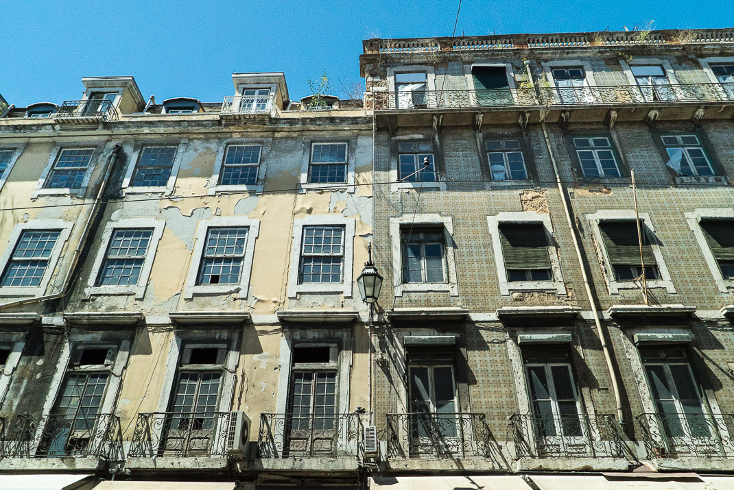 Lisbon Old Peeling Buildings
