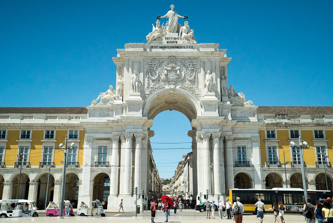 Lisbon Commerce Square Arch Front