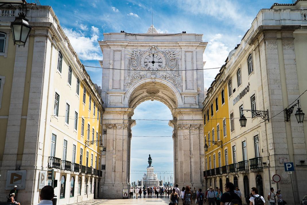 Lisbon Commerce Square Arch Back