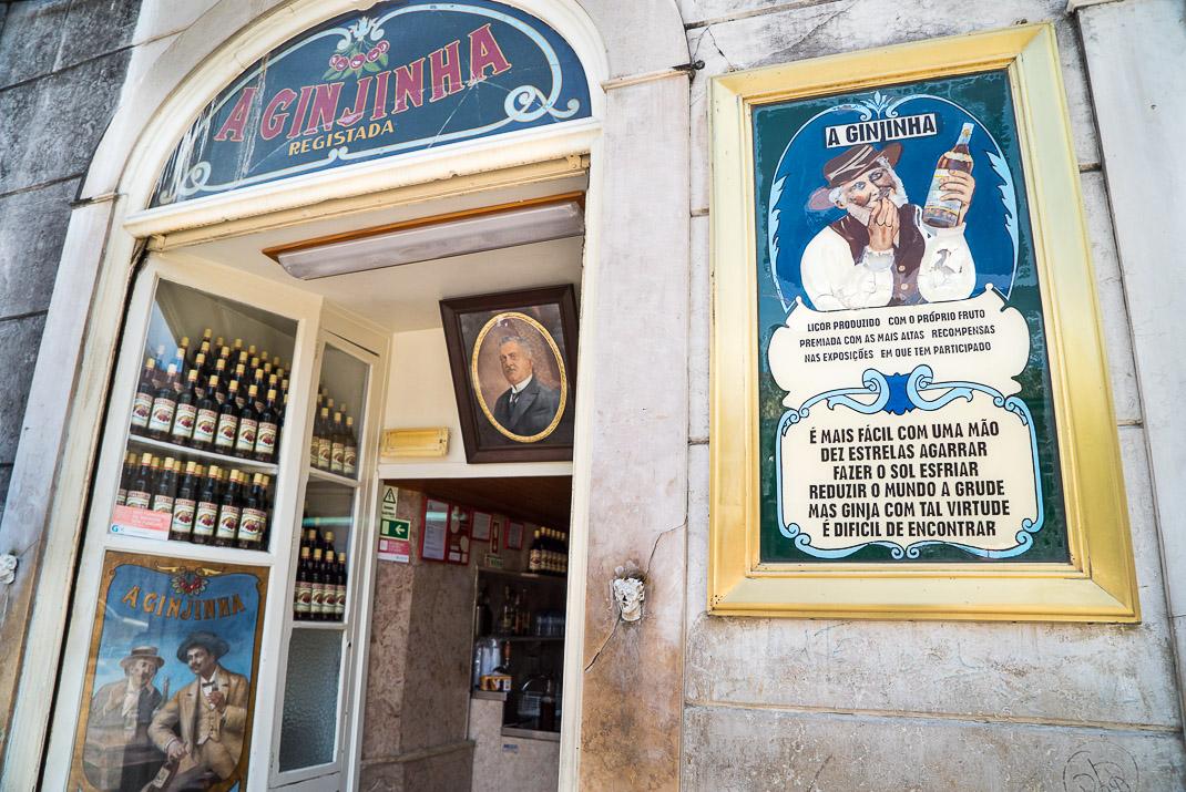Lisbon A Ginjinha Entrance