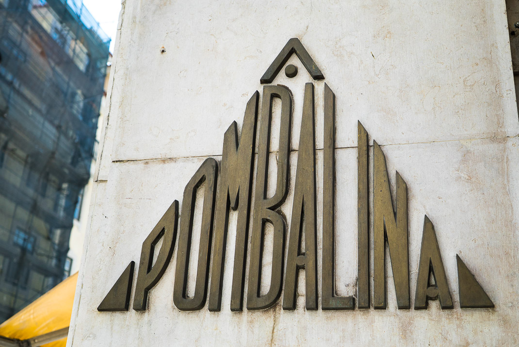 Lisbon Pombalina Sign Exterior