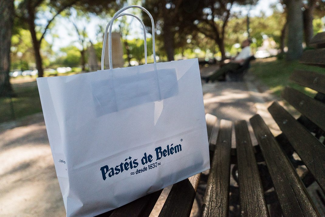 Food in Lisbon Pasteis de Belem Bag