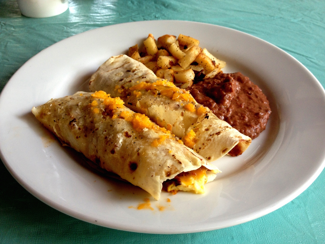 Little Corn Breakfast Burrito