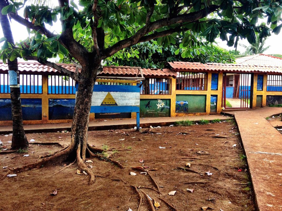 Little Corn School Entrance