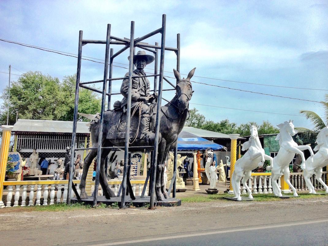 Managua Donkey Rider Statue