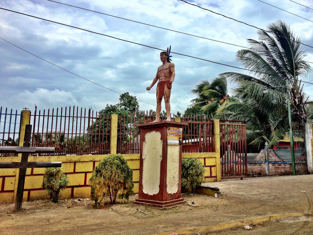 Managua Wooden Indian Statue