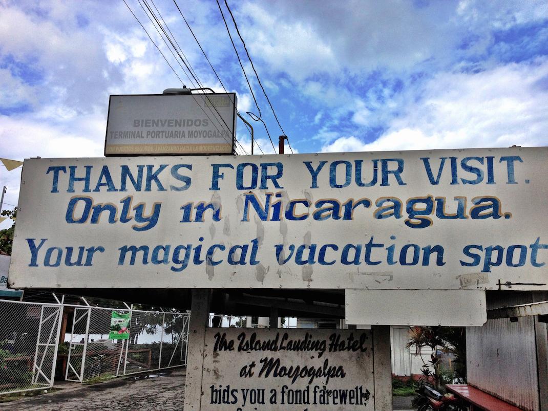 Nicaragua Thank You Sign