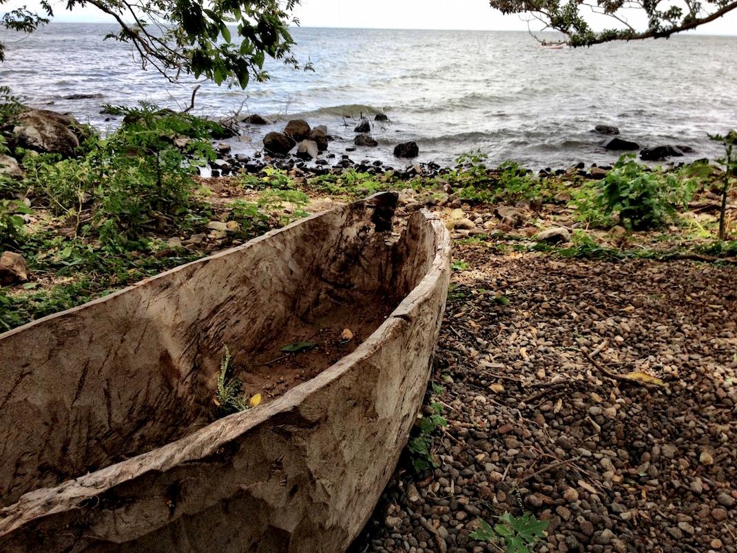 Ometepe Beached Handmade Canoe