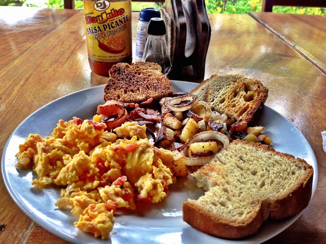 Ometepe La Omaja Breakfast