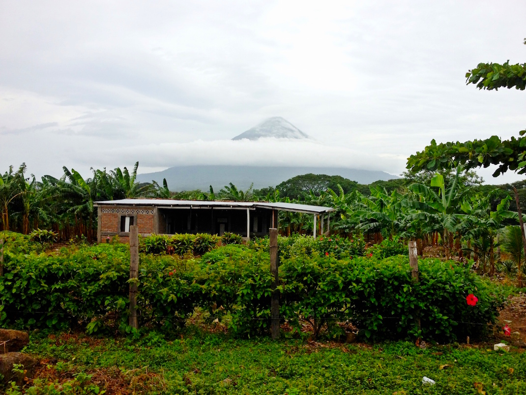 Ometepe Volcano Over Clouds