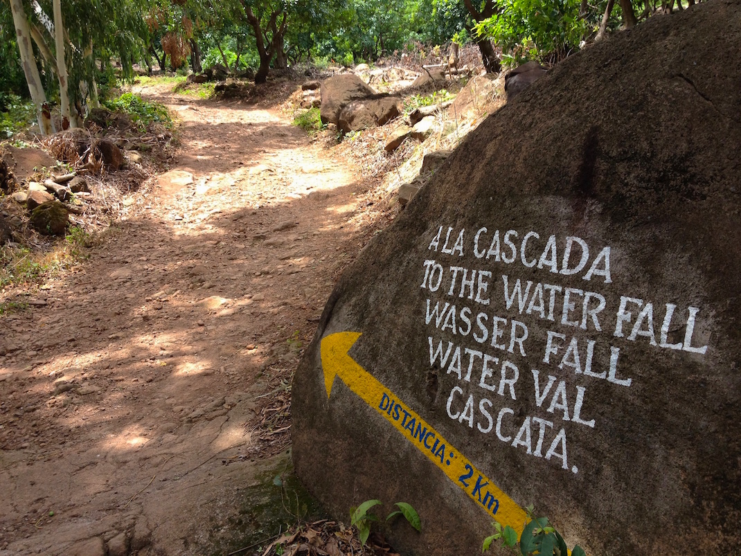 Ometepe Waterfall Path Sign