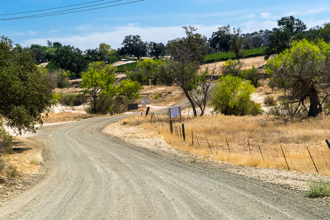 Paso Robles Dirt Road