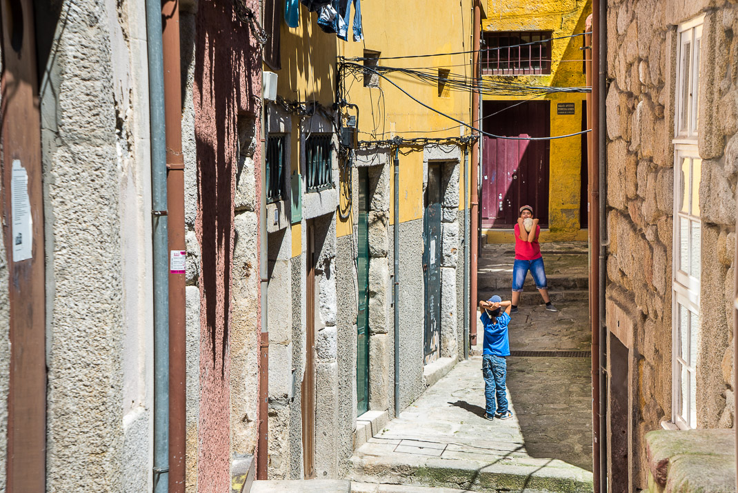 Porto Alleyway Children Playing