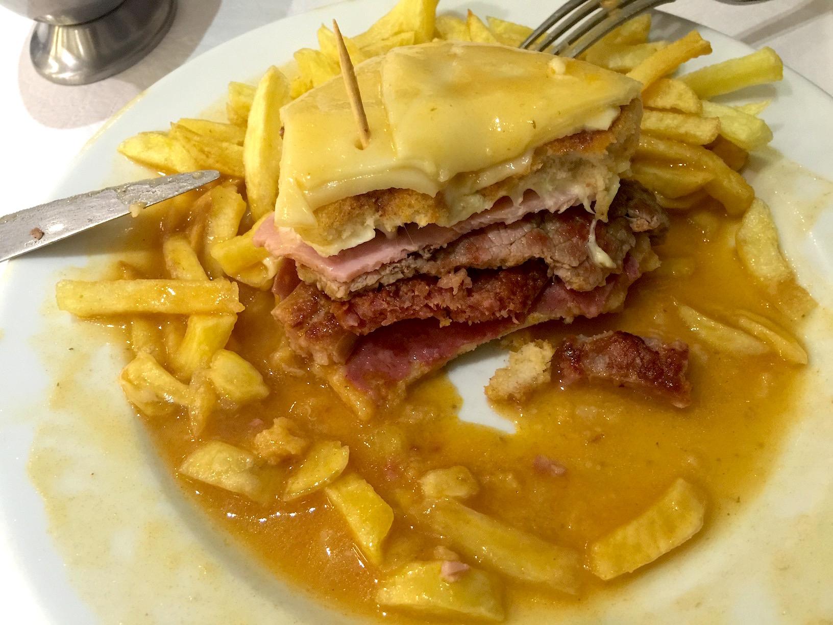 Porto Half-Eaten Francesinha Sandwich