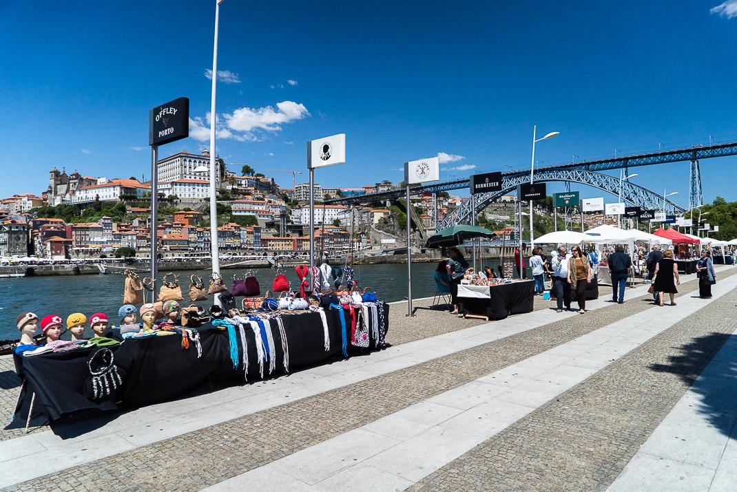 Stalls Along Porto Riverfront