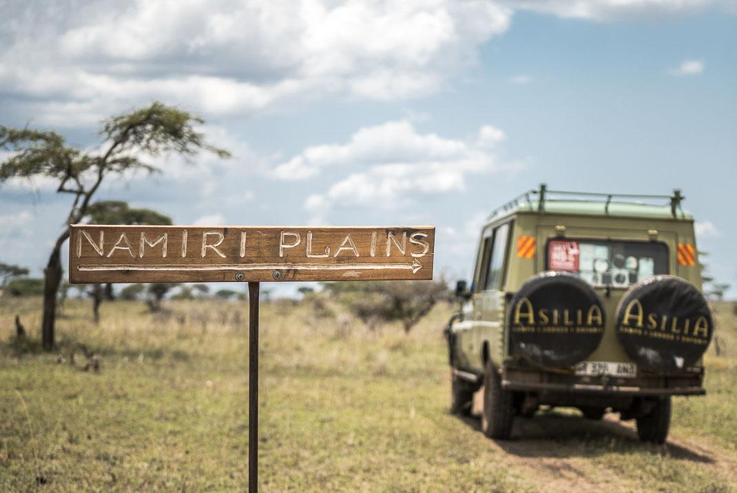 East Serengeti Namiri Plains Sign
