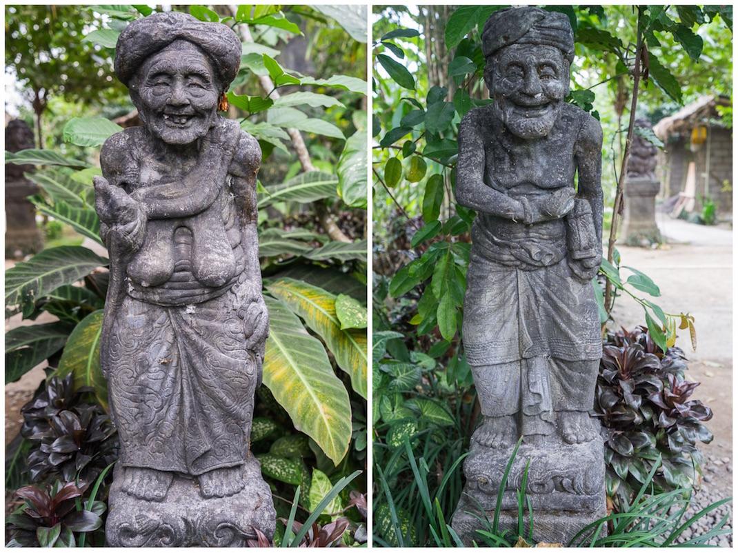 Kopi Luwak Farm Statues