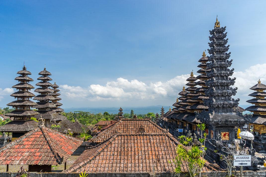 Balinese Temples Pura Besakih Rooftops