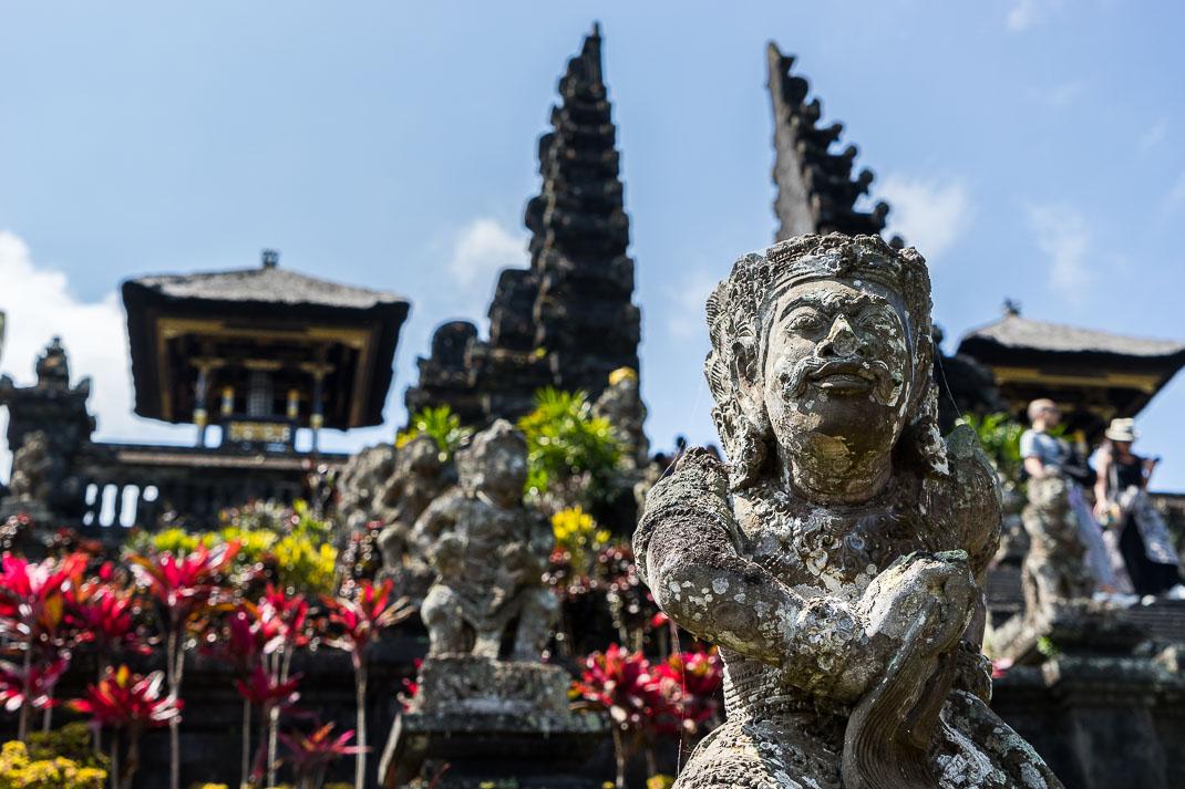 Balinese Temples Praying Statue