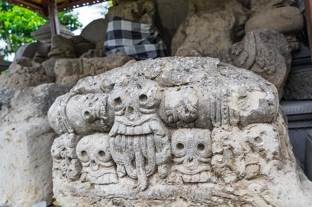 Balinese Temples Stone Skulls