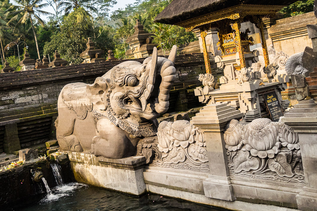 Balinese Temples Elephant Statue