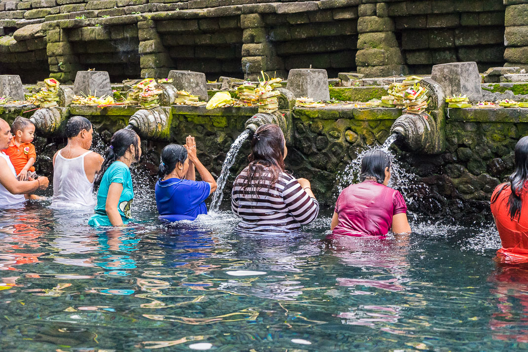 Balinese Temples Water Blessing