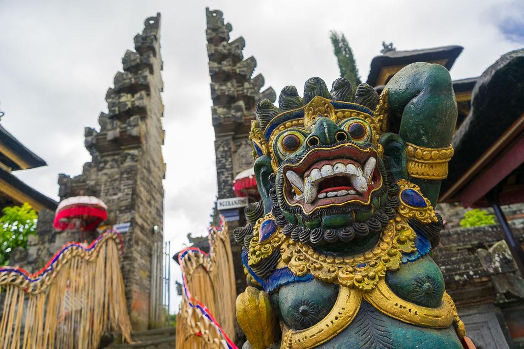 Balinese Temples Dvarapala Entrance