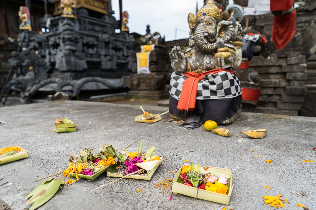 Balinese Temples Elephant Offerings