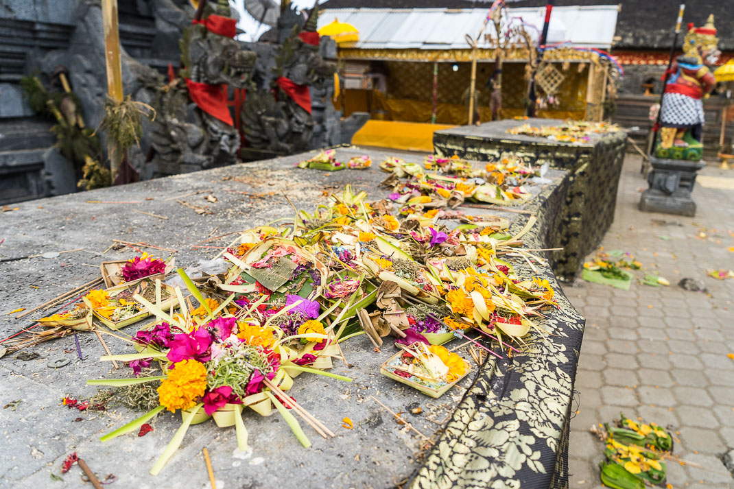 Balinese Temples Offerings Pile