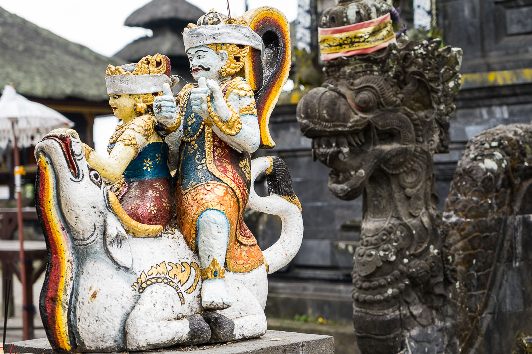 Balinese Temples Horse Statue