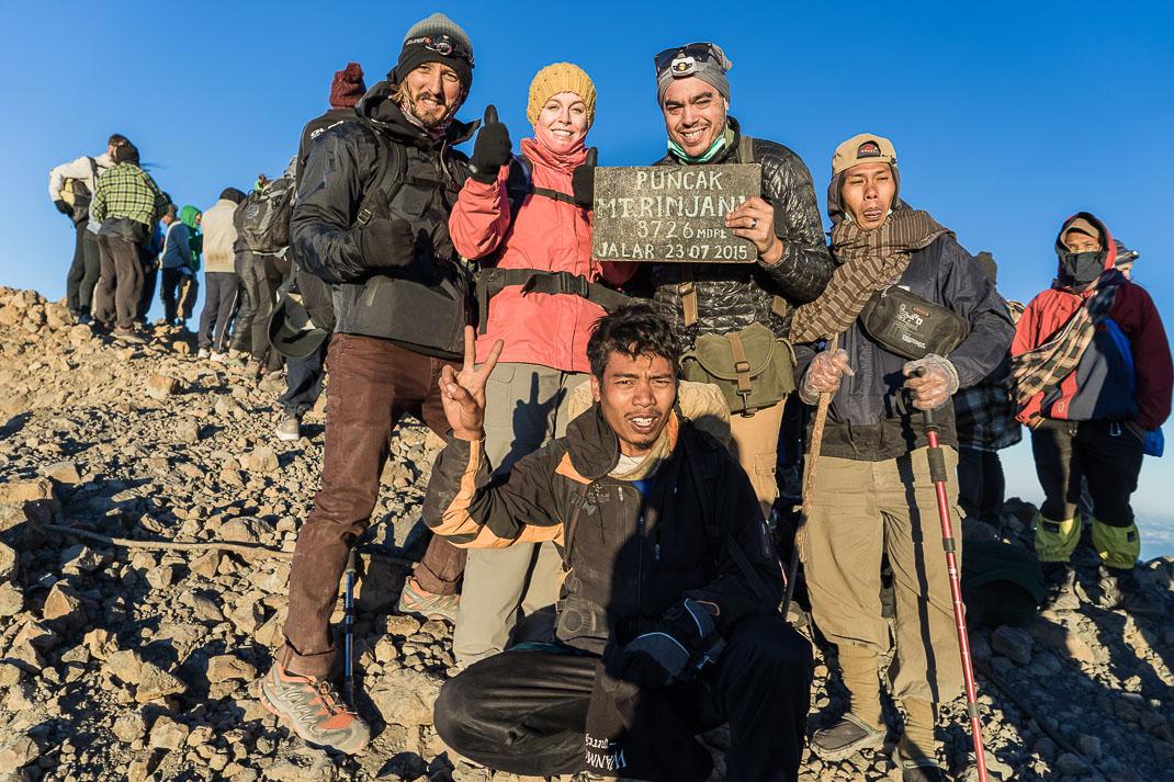 Summiting Rinjani Group Picture