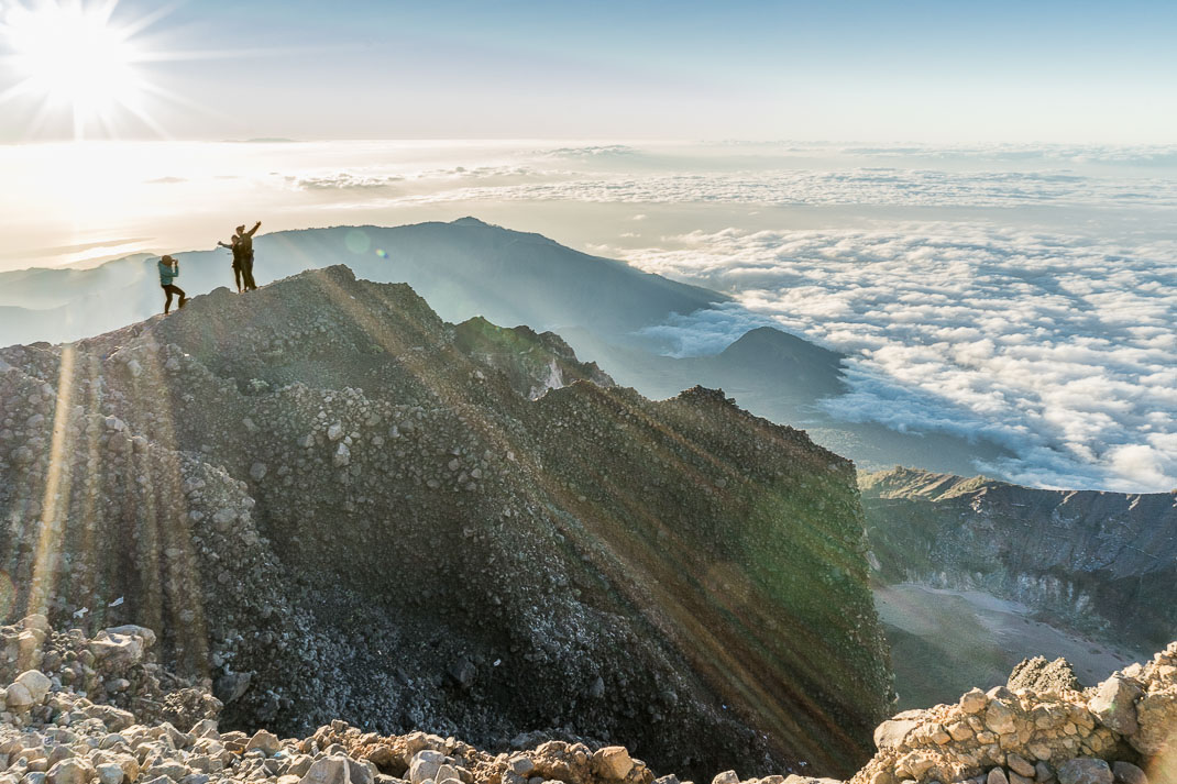 Summiting Rinjani Top Sunrise