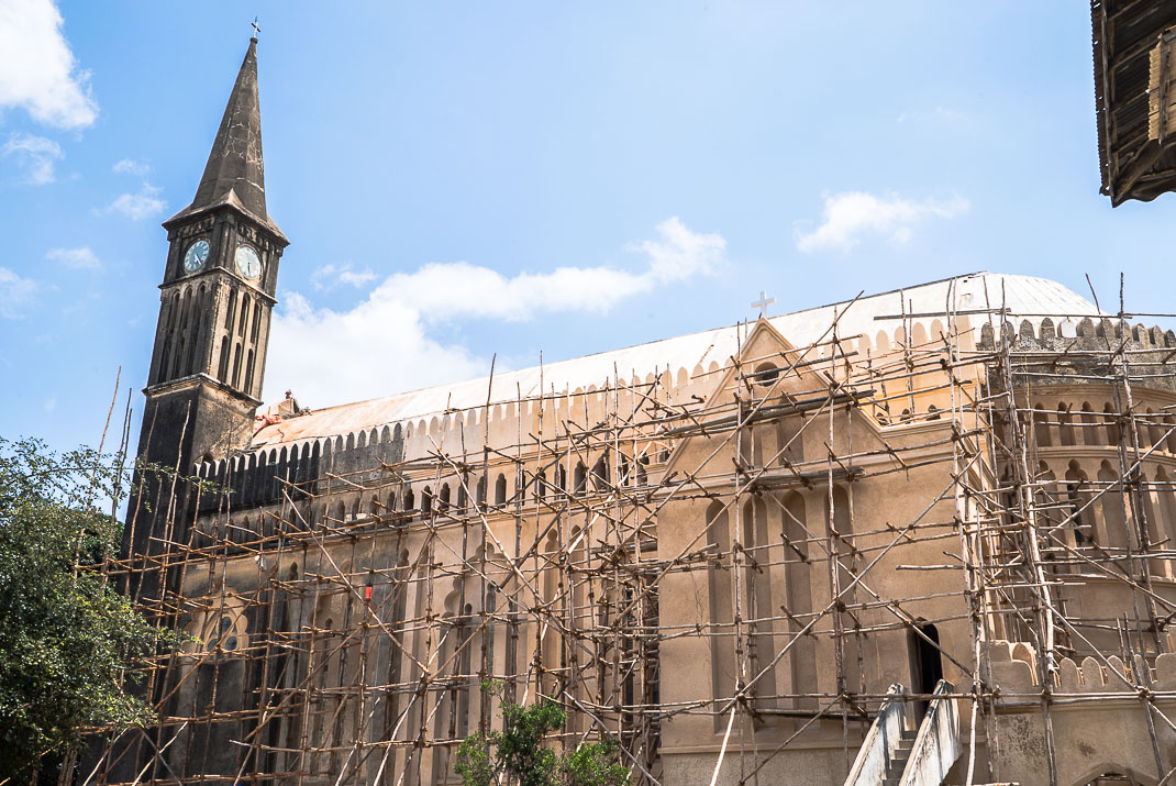 Stone Town church under construction