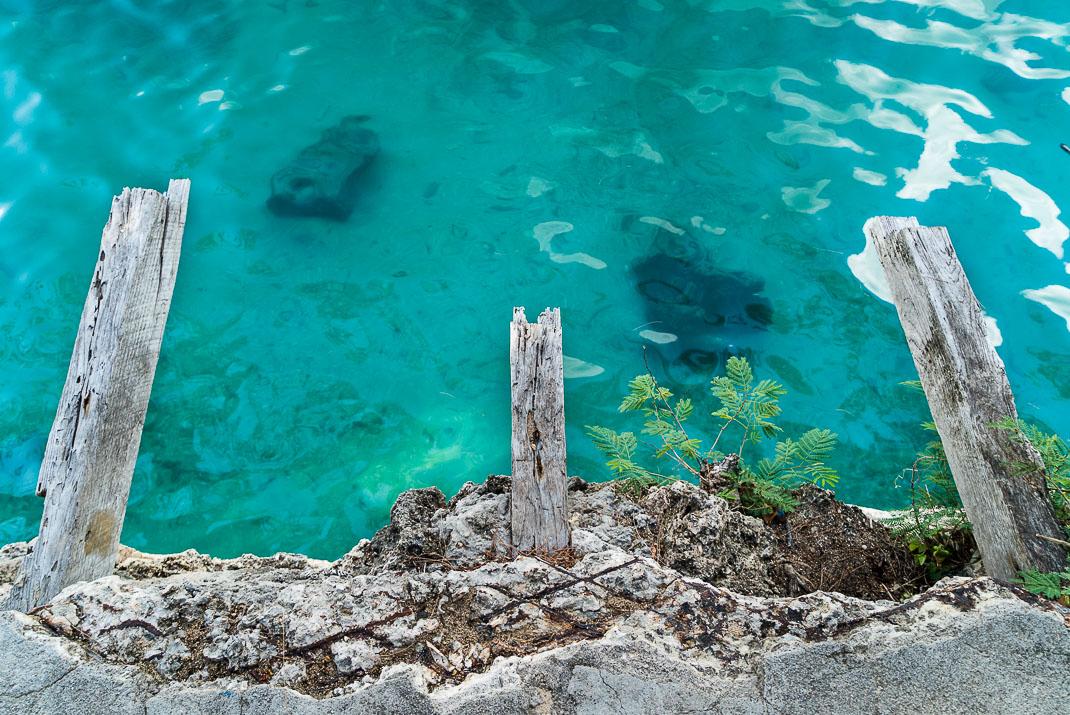 Prison Island crumbled docks