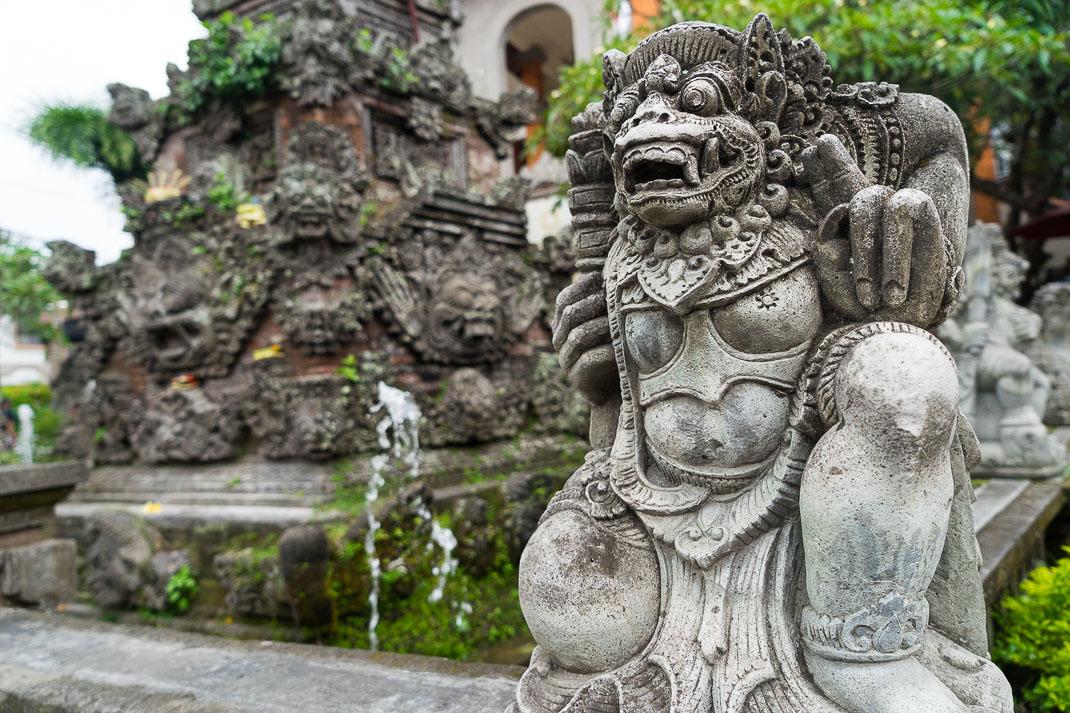 Ubud Hindu Statue Front