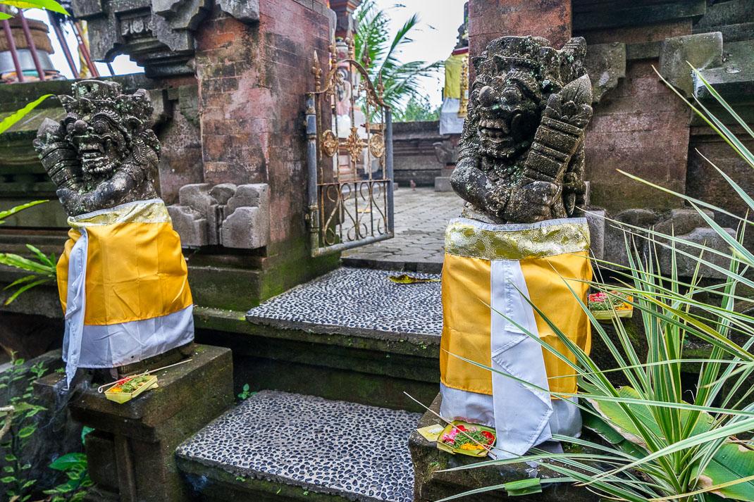 Ubud Wrapped Hindu Statues