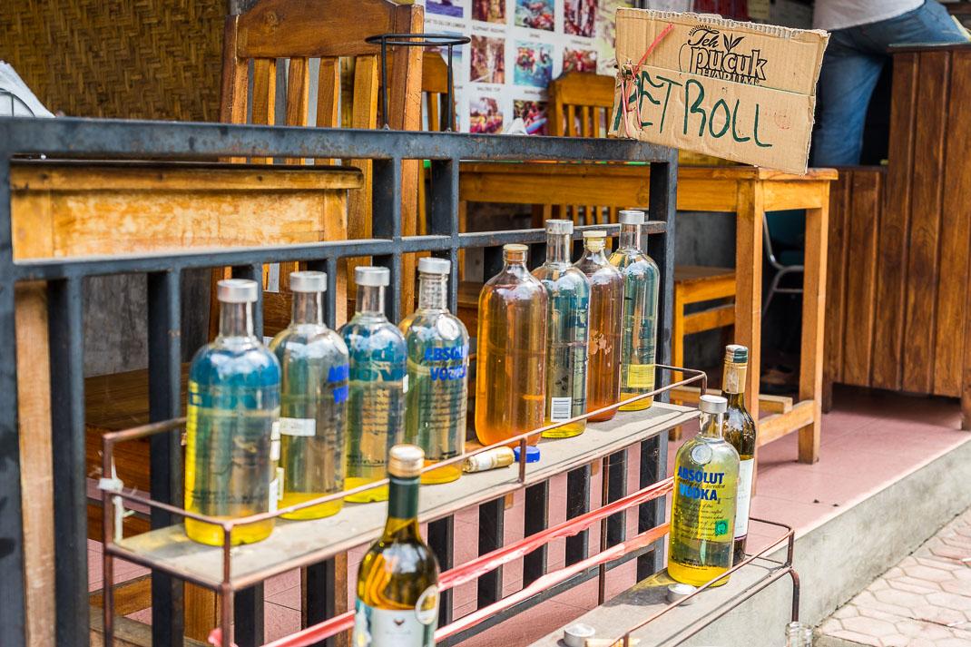 Ubud Petrol Vodka Bottles