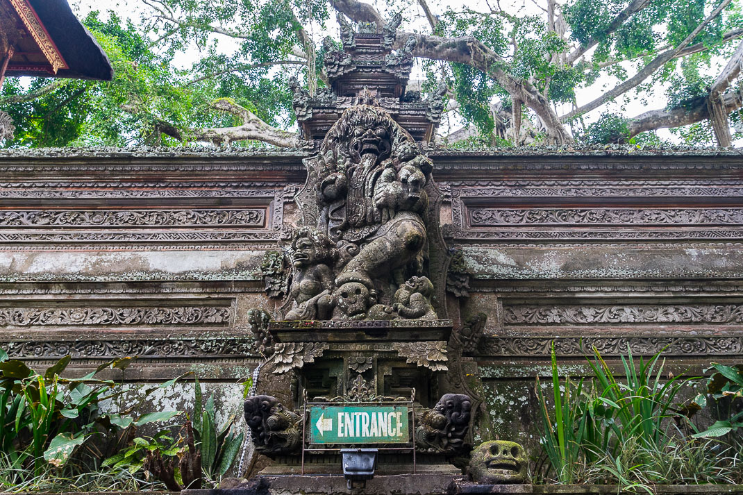 Ubud Temple Entrance Sign