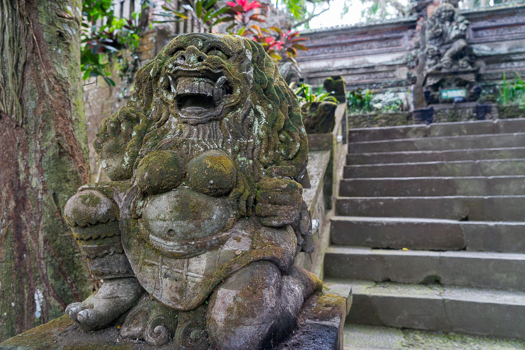 Ubud Temple Guardian Statue